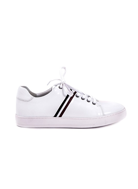 Kemal Tanca Bağcıklı Deri Ayakkabı Beyaz